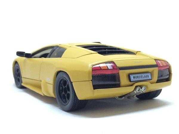 โมเดลรถ โมเดลรถยนต์ โมเดลรถเหล็ก Murcielago yellow 2