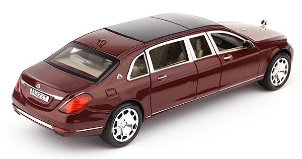โมเดลรถเหล็ก โมเดลรถ Benz S600 red 2