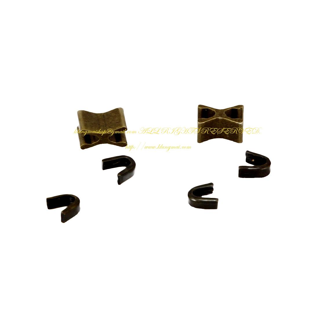 ตัวล็อคซิป - หางซิป สีทองเหลืองรมดำ เบอร์ #5