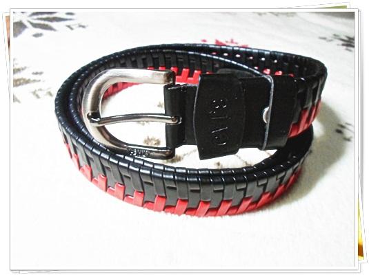 เข็มขัดหนังถัก เข็มขัด levis หนังแท้ ถักสีแดงสลับดำ เข็มขัดผู้หญิงหนังถัก levis no 7147