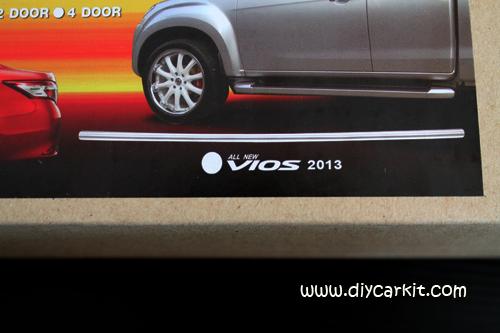 คิ้วโครเมียมขอบกระจกรถยนต์ แต่งรถ New Vios'13-16