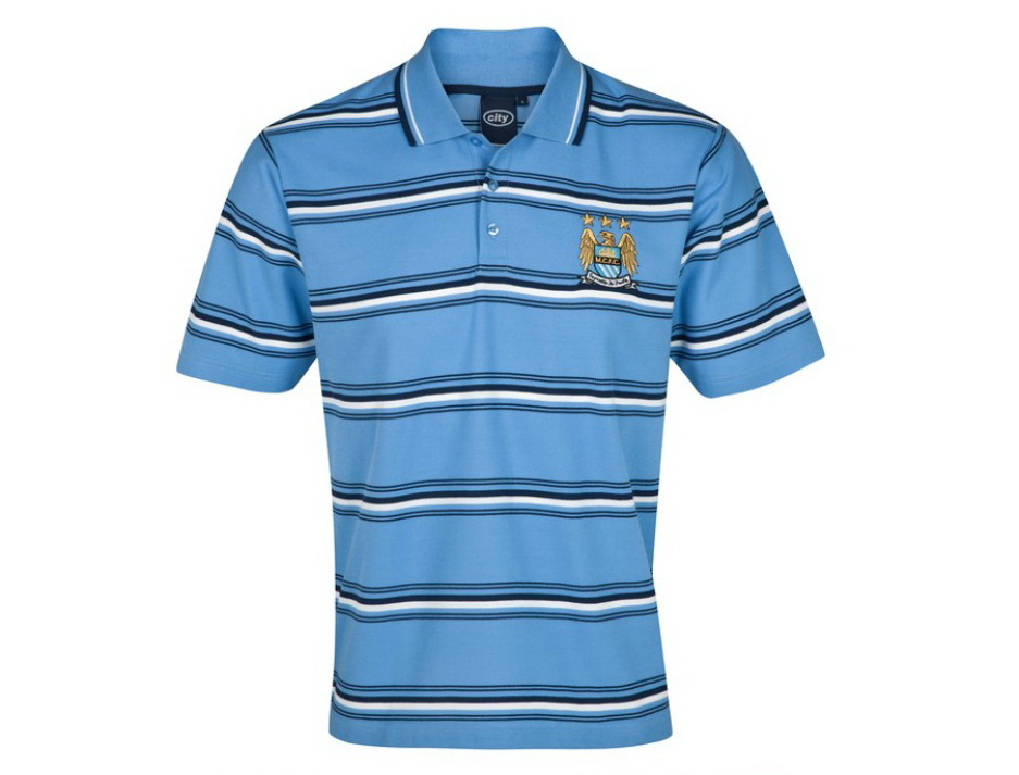 เสื้อโปโล แมนซิตี้ ของแท้ 100% Manchester City Essential Power Stripe Polo Top - Sky จากสโมสรแมนซิตี้ UK สำหรับสวมใส่ เป็นของฝาก ที่ระลึก ของขวัญ แด่คนสำคัญ