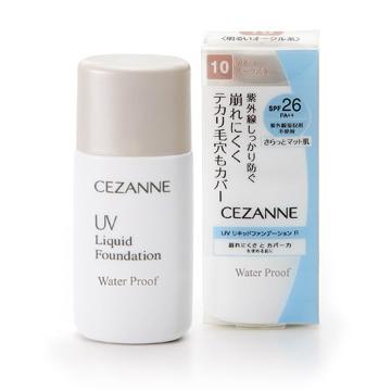 CEZANNE UV Liquid Foundation WaterProof SPF26 # No.20 Ochre