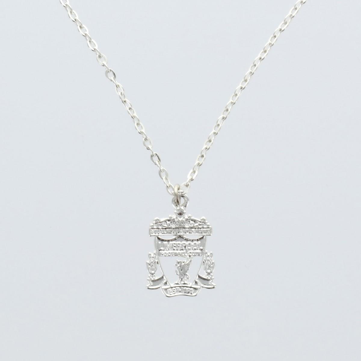 สร้อยคอจี้ลิเวอร์เบิร์ดลิเวอร์พูล Silver-Plated Cut Out Crest Pendant and Chain ของแท้