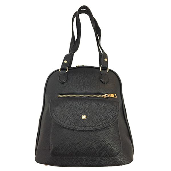 [ พร้อมส่ง ] - กระเป๋าเป้ & สะพายข้าง สีดำ มีช่องใส่ของด้านหน้า ดีไซน์เรียบเก๋ๆ โดดเด่นไม่ซ้ำใคร ปรับใช้งานได้หลากสไตล์