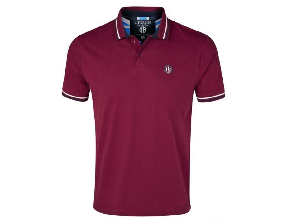 เสื้อโปโล แมนซิตี้ ของแท้ 100% Manchester City Quad Polo Top - Maroon จากสโมสรแมนซิตี้ UK สำหรับสวมใส่ เป็นของฝาก ที่ระลึก ของขวัญ แด่คนสำคัญ