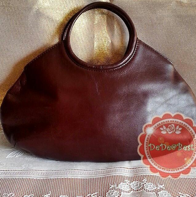 ขายแล้วค่ะ B42:Vintage leather bag กระเป๋าหนังแท้สีน้ำตาล&#x2764