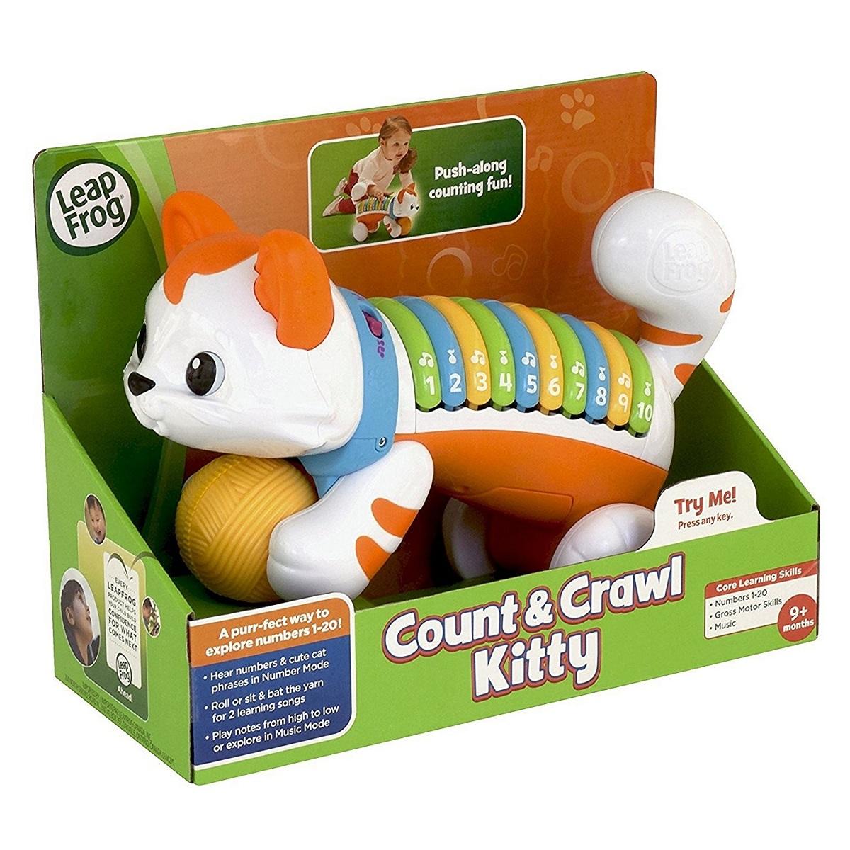 เจ้าแมวเหมียวแสนซน เสริมความรู้ด้านตัวเลขสำหรับเด็กเล็กนะคะ เจ้าแมวแสนซนจาก leapfrog count and crawl kitty