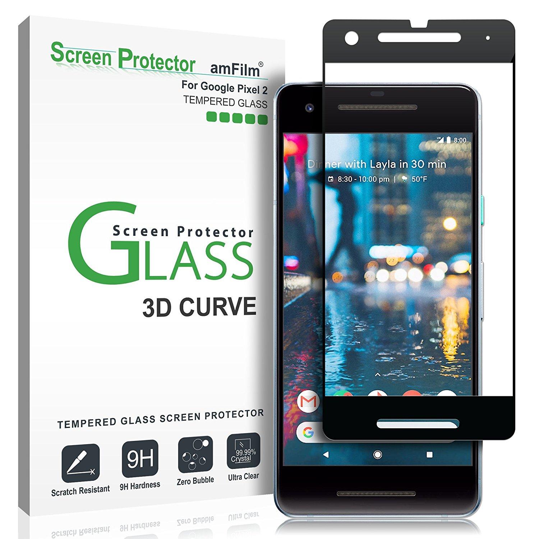 กระจกกันรอย amFilm Google Pixel 2 Tempered Glass Screen Protector 3D Curved 0.3mm (1 Pack)