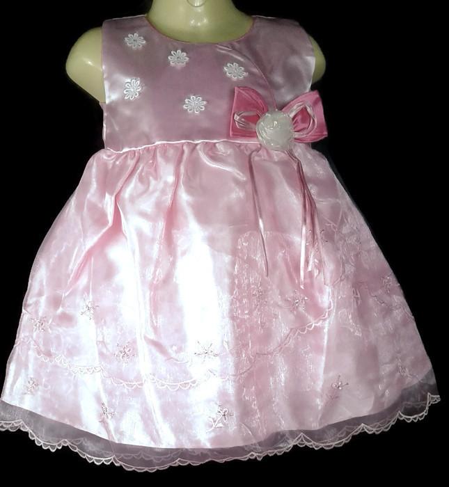 ชุดกระโปรงเด็กหญิงออกงานเบบี้สีชมพู BL540