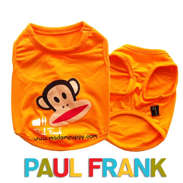 (สินค้าหมดรุ่น) เสื้อกล้ามสุนัข Paul Frank สีส้ม รุ่น 7 สี 7 วัน พร้อมส่ง