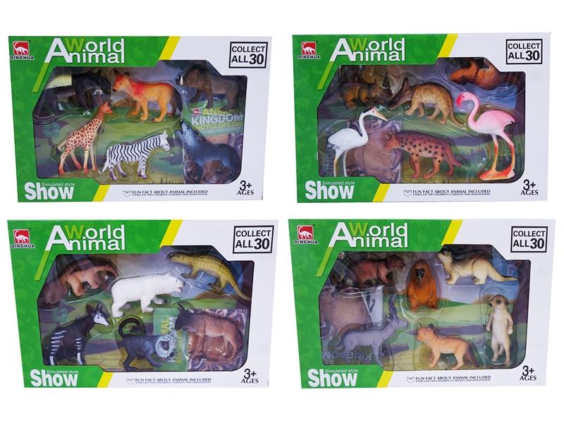 "World Animal สัตว์ป่าจำลอง 4"" (Set 4 pack)"