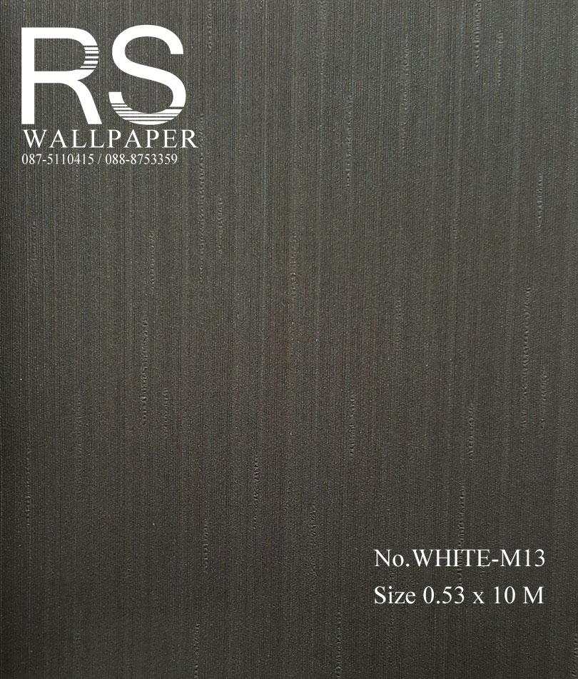วอลเปเปอร์พื้นสีดำ WHITE-M13