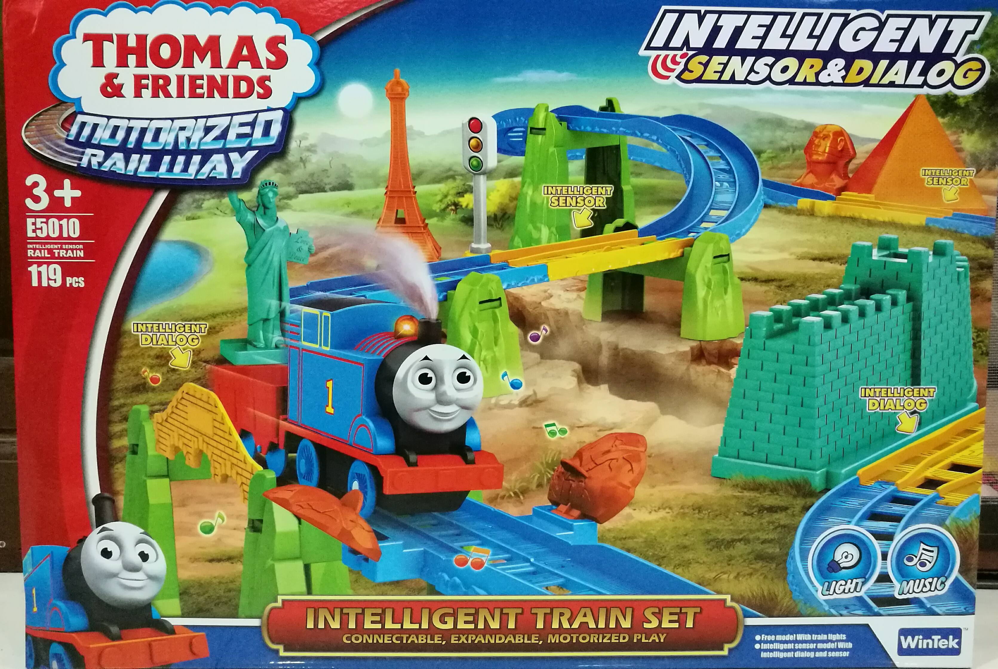 รถไฟ Thomas and friends intelligent sensor & dialog 119 ชิ้น by wintek ส่งฟรี