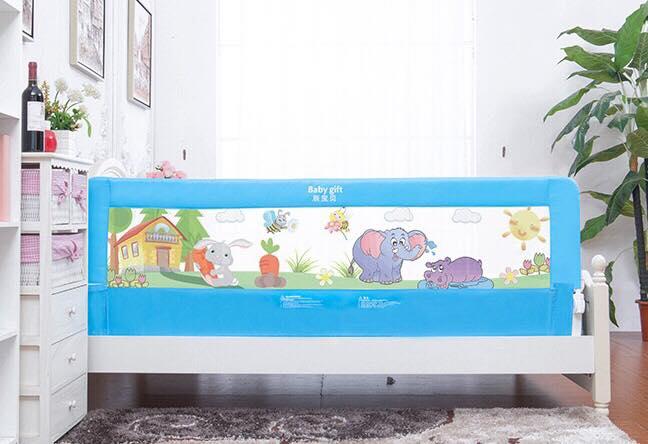 ที่กันเตียงเพื่อความปลอดภัยของลูกน้อย สีฟ้า