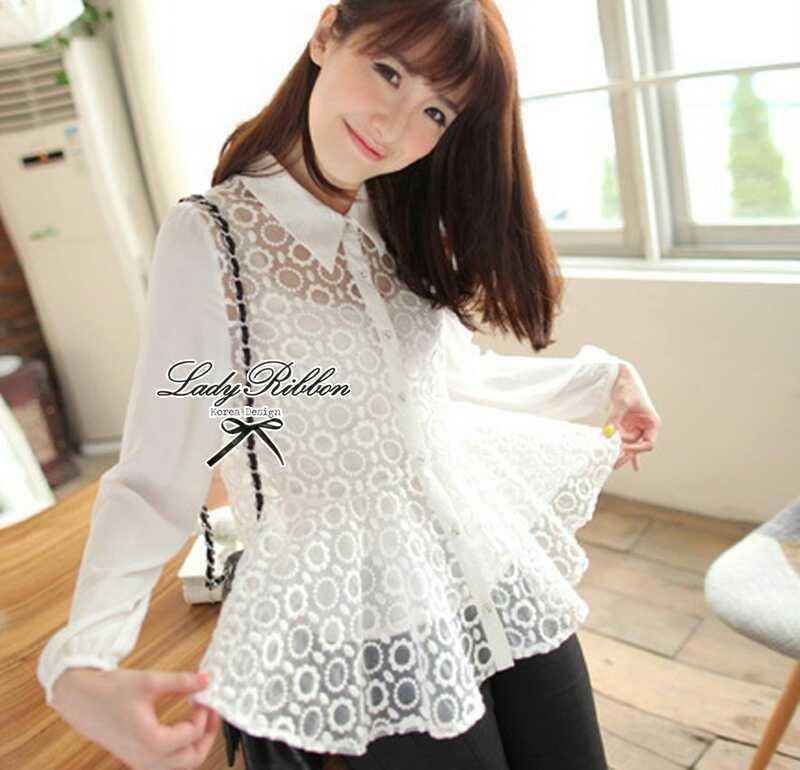 Lady Ribbon's Made Lady Blooming Organdy Shirt