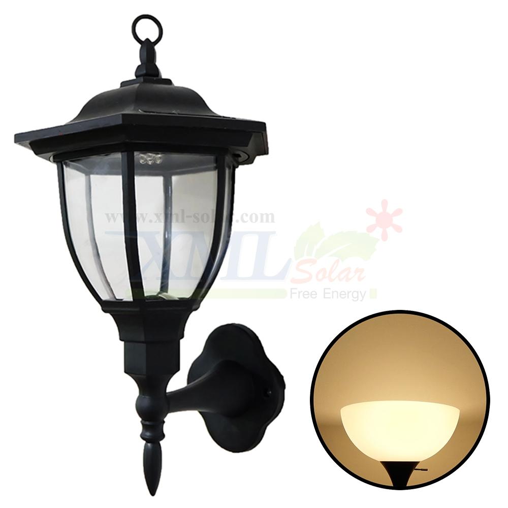โคมไฟกิ่งโซล่าเซลล์ 4 LED (เเสง : เหลืองวอมไวท์)