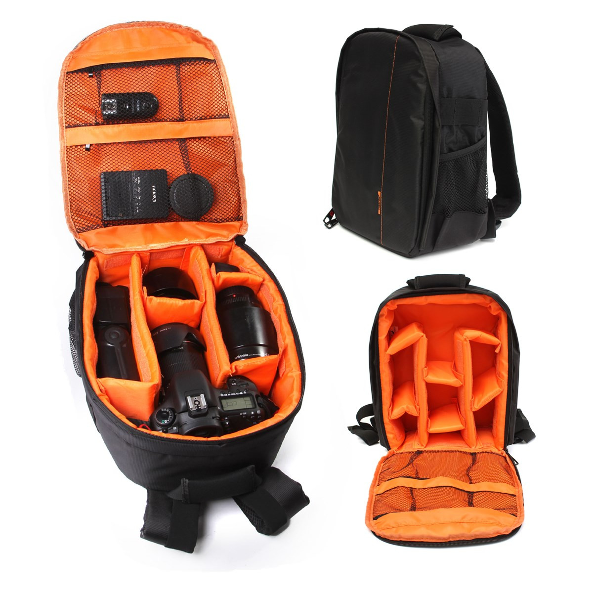 กระเป๋ากล้องTigernu กันละอองน้ำทั้งใบ สีดำ-ส้ม