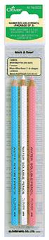 ดินสอเขียนผ้า แพ็ค 3สี (ขาว,ฟ้า,ชมพู)