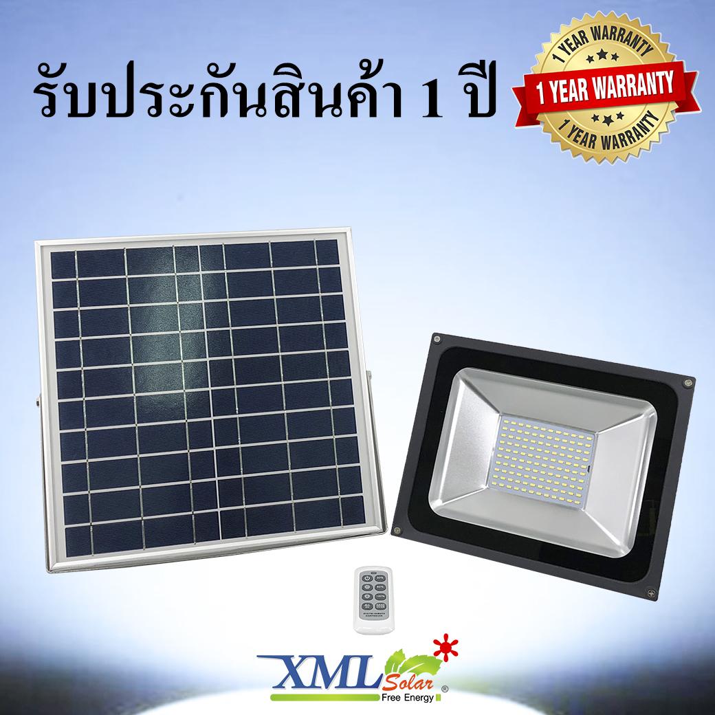 ไฟสปอตไลท์โซล่าเซลล์ 50 Watt (กล่องเขียว) (เเสง : ขาว)