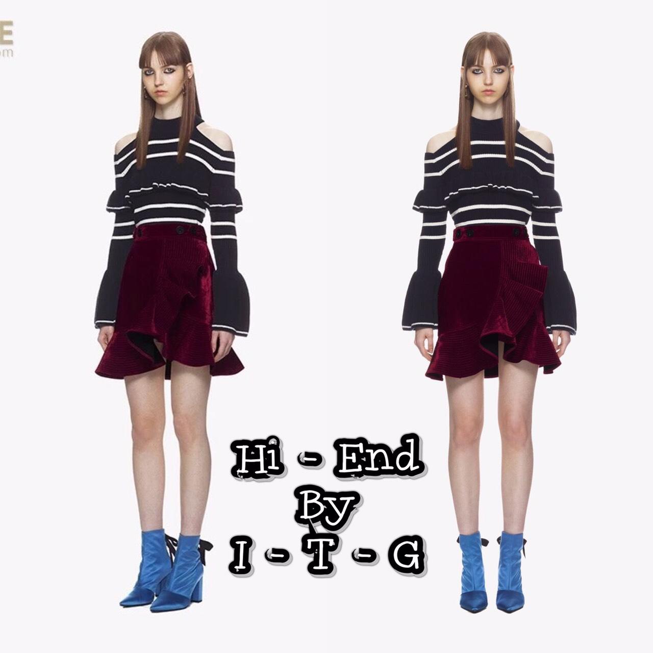 Skirt :: กระโปรงเอวสูง แต่ง