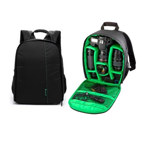 กระเป๋ากล้องราคาประหยัดTigernu กันละอองน้ำทั้งใบ สีดำ-เขียว