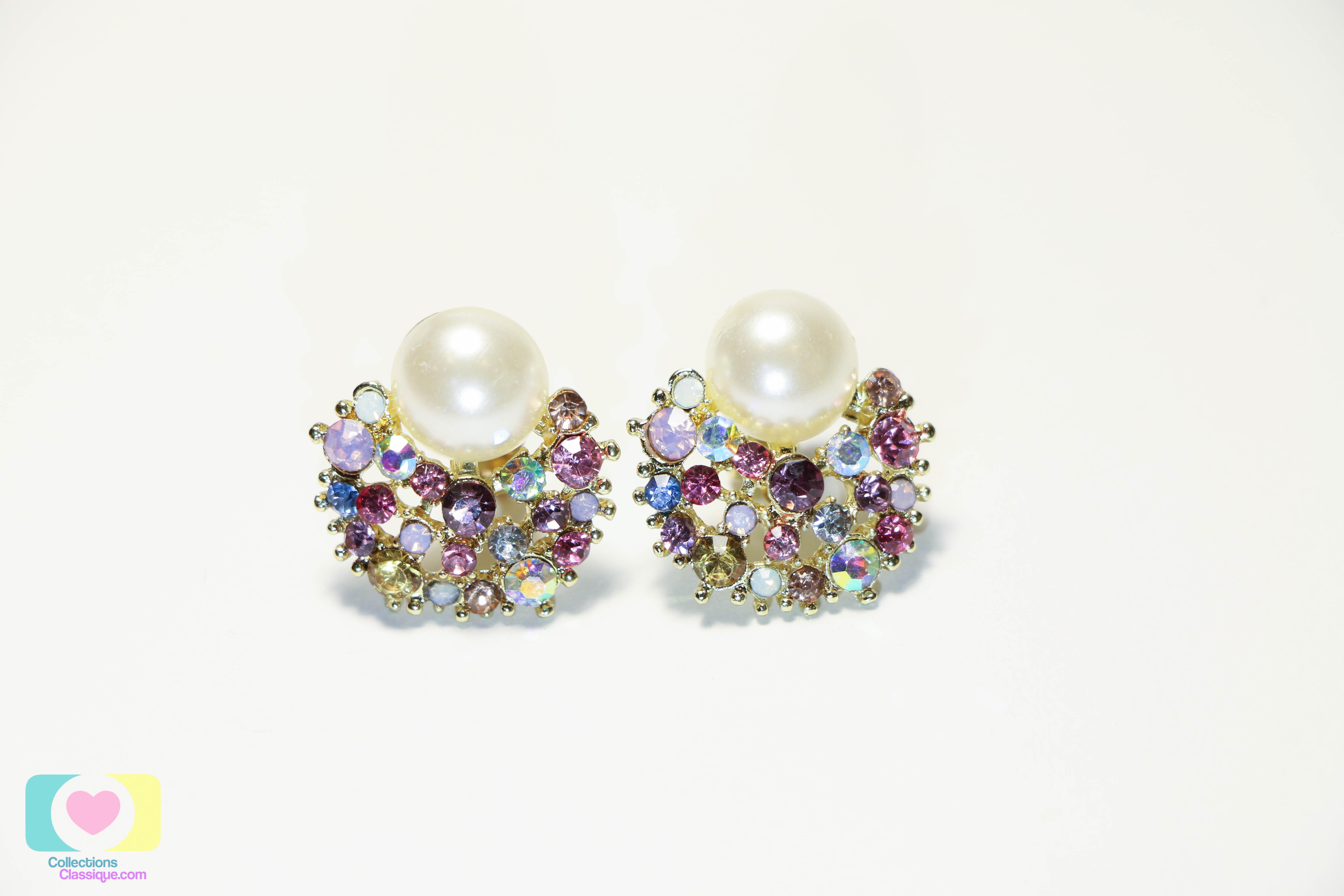 ต่างหูหนีบ Clip on earrings CE299001