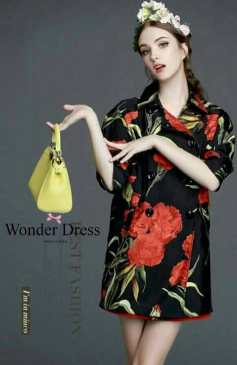 เสื้อผ้าเกาหลี พร้อมส่งเสื้อคลุมลายใหม่ล่าสุดจากแบรนด์ D&G