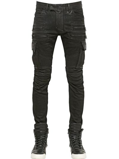 กางเกงBalmain Cargo Zipper Denim Jeans
