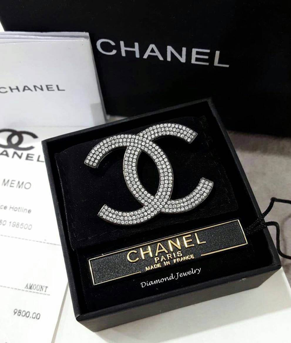 พร้อมส่ง Chanel Brooch เข็มกลัดชาแนลงานเพชร CZ แท้