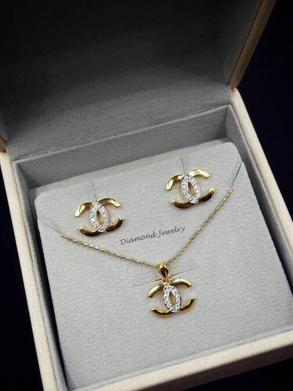 พร้อมส่ง Chanel Earring & Necklace งานเกรดซุปเปอร์ไฮเอน