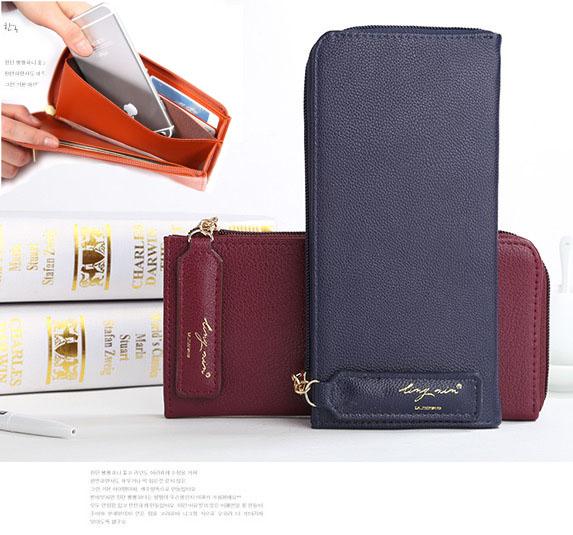 กระเป๋าสตางค์ใส่โทรศัพท์ LING XIN [แบบซิปปิด 2 ด้าน]