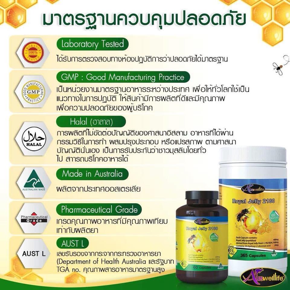มาตรฐานความปลอดภัยของนมผึ้ง