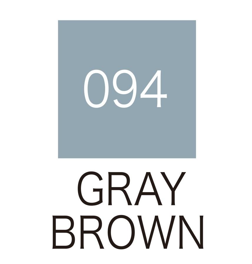 ปากกาสี 2 หัว ZIG CLEAN COLOR No.094 - Gray Brown
