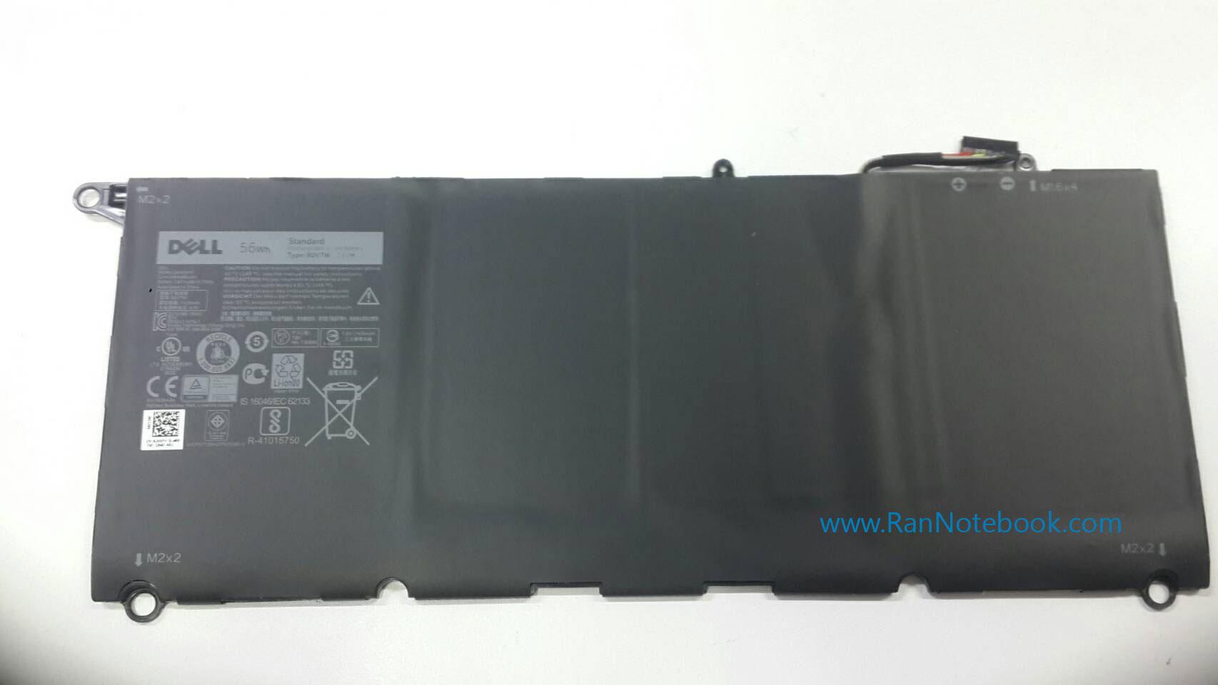 Battery DELL XPS 13 9343 9350 0N7T6 JHXPY 90V7W ของแท้ ประกันศูนย์ DELL ราคา ไม่แพง