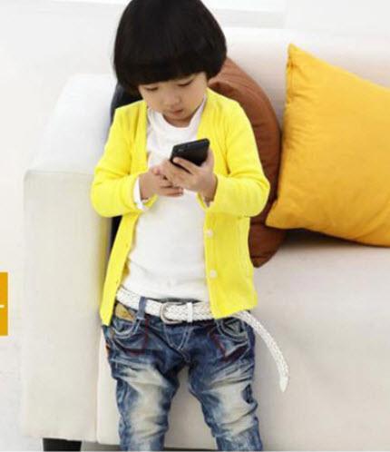 เสื้อคลุมผ้ายืดเหลือง ใส่ได้ ทั้ง ช-ญ