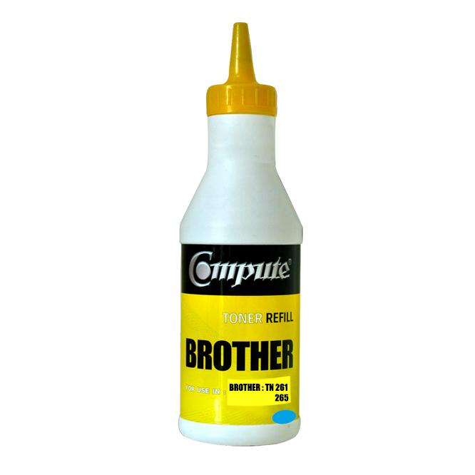 ผงหมึกเติม BROTHER TN261/TN265C คอมพิวท์ Refill Toner (Cyan)