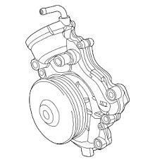 ปั๊มน้ำ GRAND CHEROKEE V6 ปี2013-ขึ้นไป / Water Pump