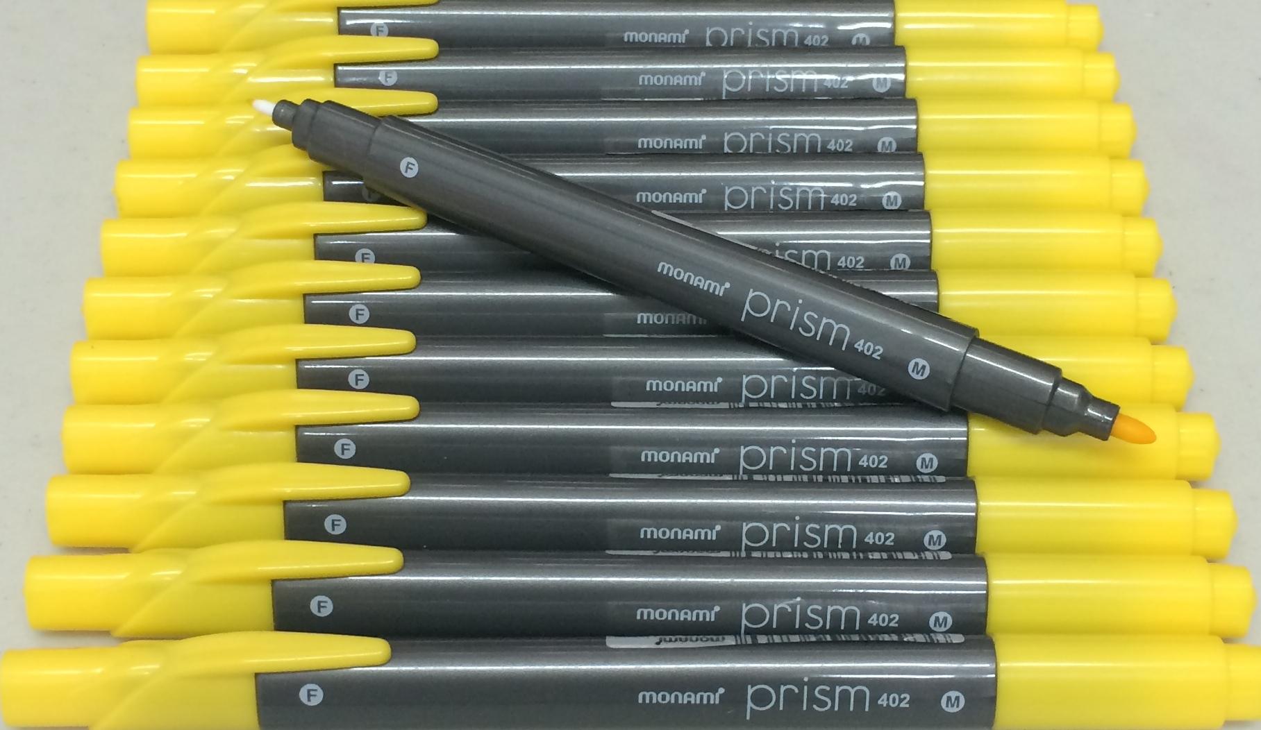 ปากกาสี 2 หัว Monami Prism 402 - Yellow