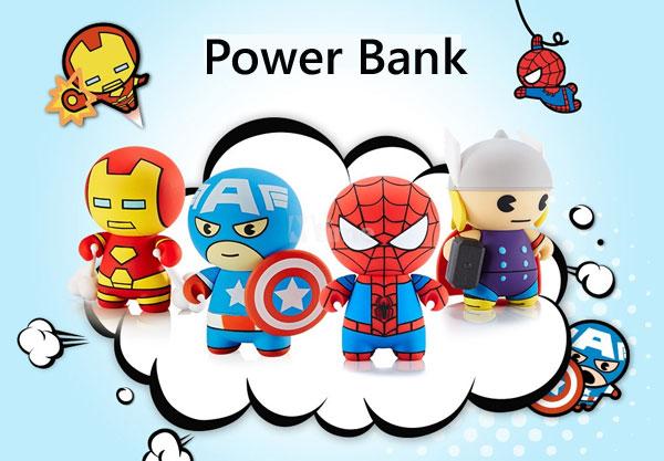 แบตเตอรี่สำรอง - Power Bank ความจุ 2600 mAh (The Avengers & Minions Style)