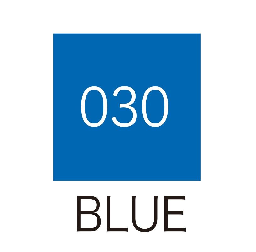 ปากกาสี 2 หัว ZIG CLEAN COLOR No.030 - Blue