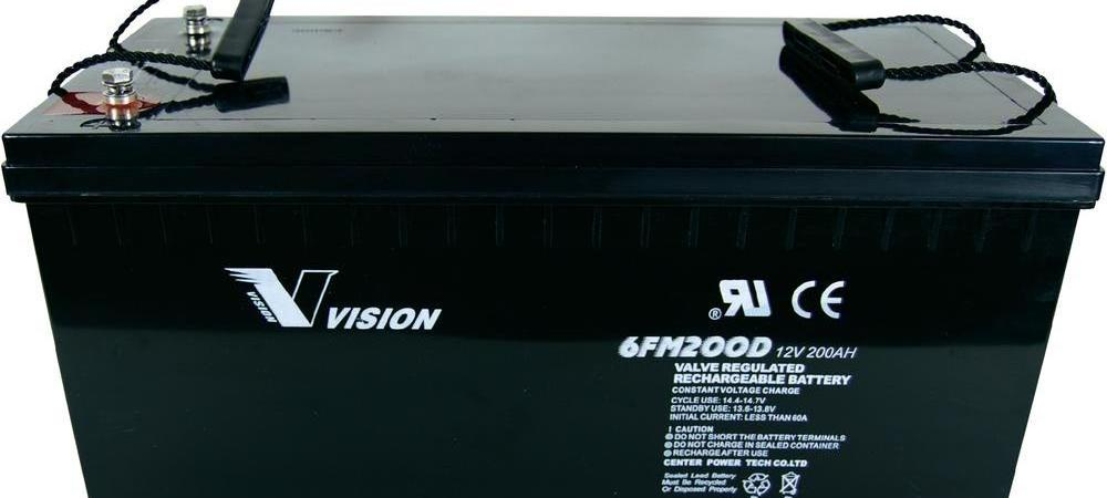 แบตเตอรี่ขนาด 200Ah 12V ชนิด Deep Cycle - AGM