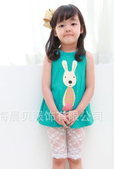 เสื้อกล้ามกระต่ายเขียวระบายย้วย