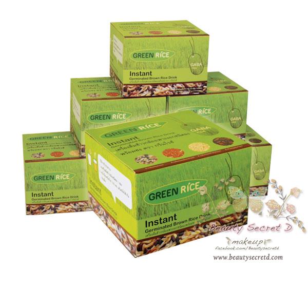 Green Rice Instant Germinated Brown Rice Drink เครื่องดื่มข้าวกล้องเพาะงอกชนิดผง ตรา กรีนไรซ์ ( 6 กล่อง )