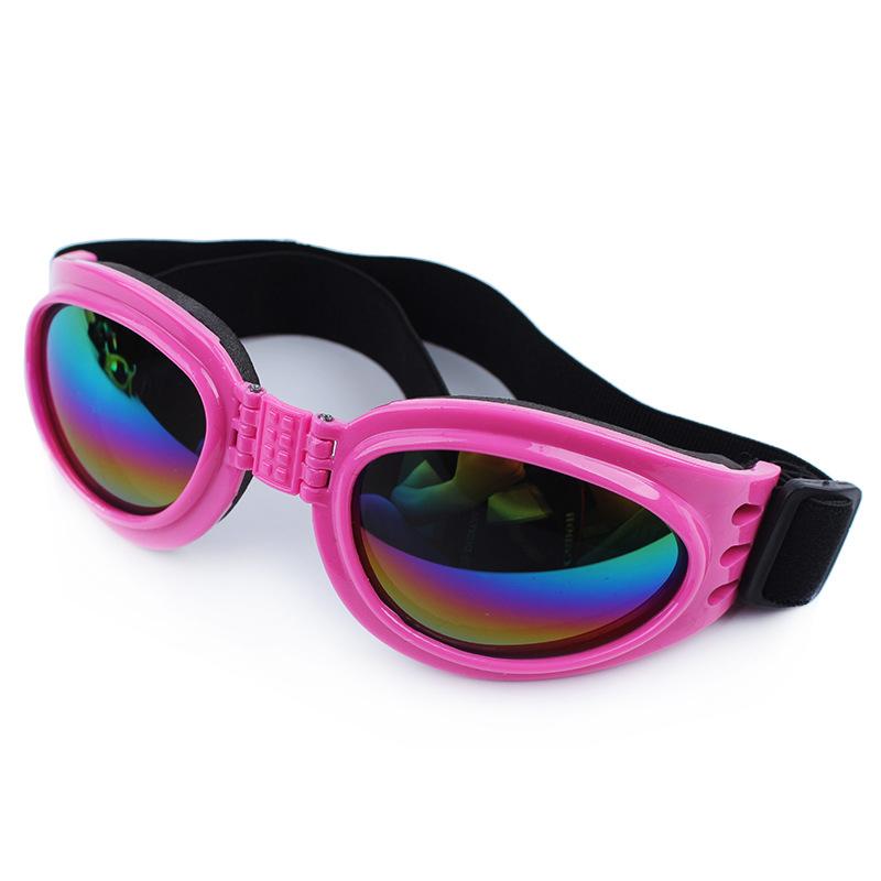 แว่นตาสุนัข สีชมพู
