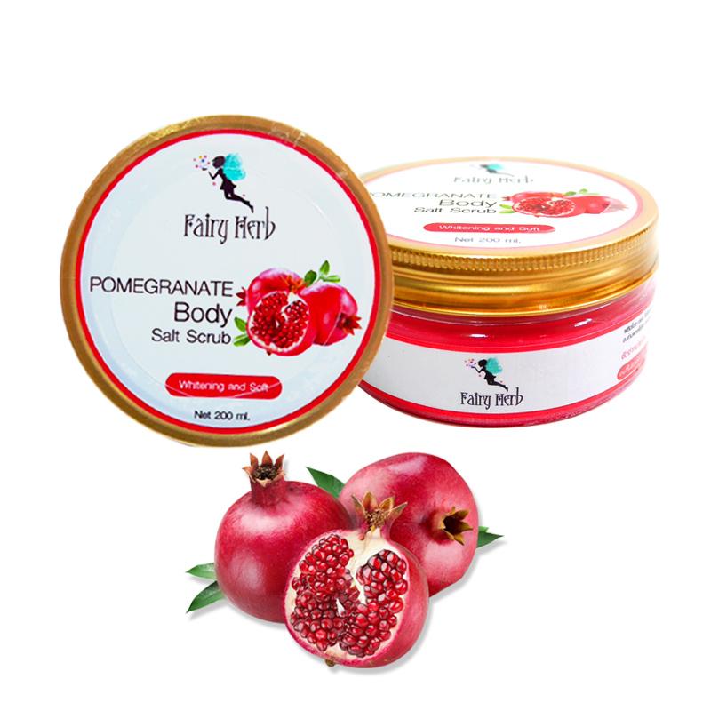 แฟรี่ เฮิร์บ สครับเกลือทับทิมสำหรับผิวกาย Fairy Herb Pomegranate Body Salt Scrub