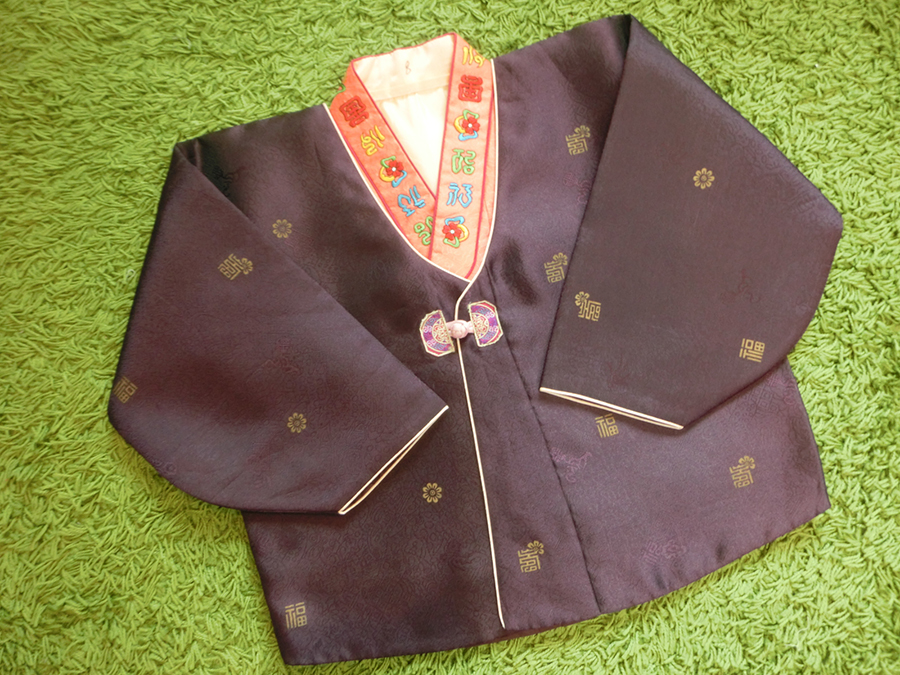 Premium Hanbok boy ฮันบกผ้าไหมเด็กชาย 8 ขวบ แถมกระเป๋าค่ะ