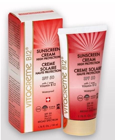 ลด 45 % VITACREME B12 :: Sunscreen Cream High Protection SPF 50 ครีมกันแดด ปกป้องผิวคุณจาก UVA และ UVB ให้ความชุ่มชื่น ป้องกันริ้วรอยที่เกิดจากแสงแดด ด้วยคุณค่าจากวิตามิน B5, C, E และ B12