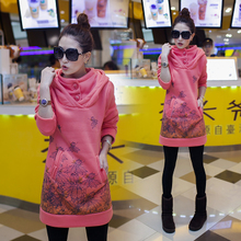 KW5711002 เสื้อกันหนาวสาวเกาหลี คอปก มีฮูด แต่งกระดุมคอ (พรีออเดอร์) แฟชั่นเกาหลี รอ 3 อาทิตย์หลังชำระเงิน