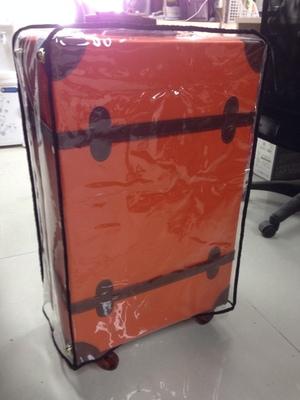 รีวิว กระเป๋าเดินทางล้อลากสไตล์วินเทจ สีส้ม
